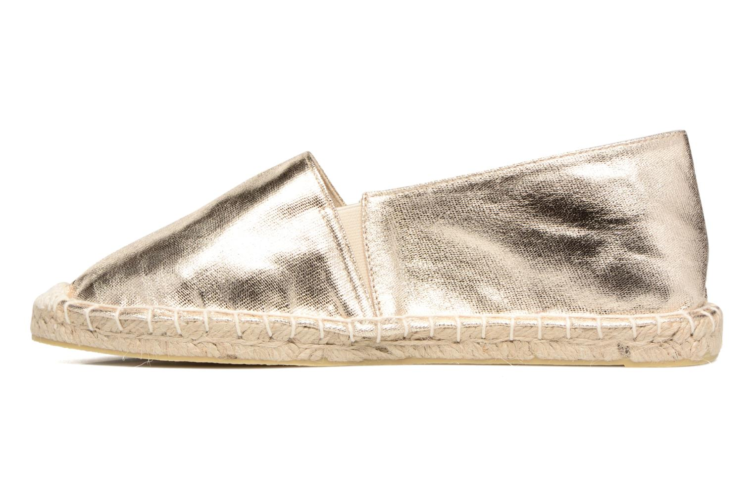 Espadrilles Pieces Haisha espadrillos Bronze and Gold front view