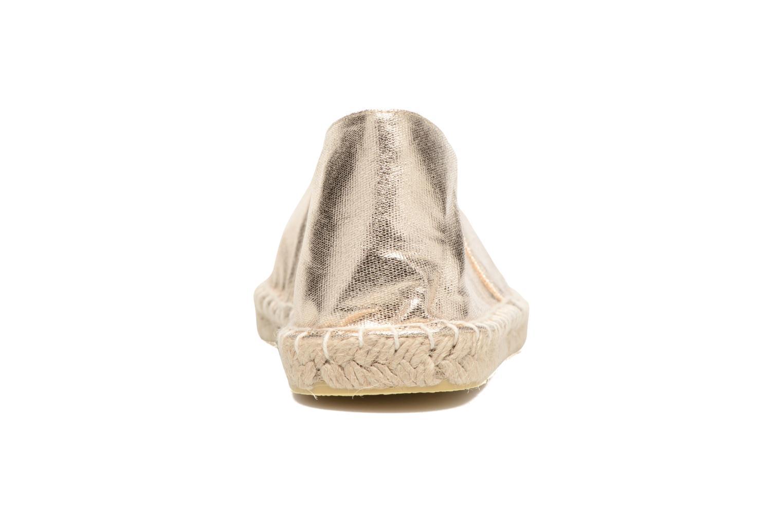 Espadrilles Pieces Haisha espadrillos Or et bronze vue droite