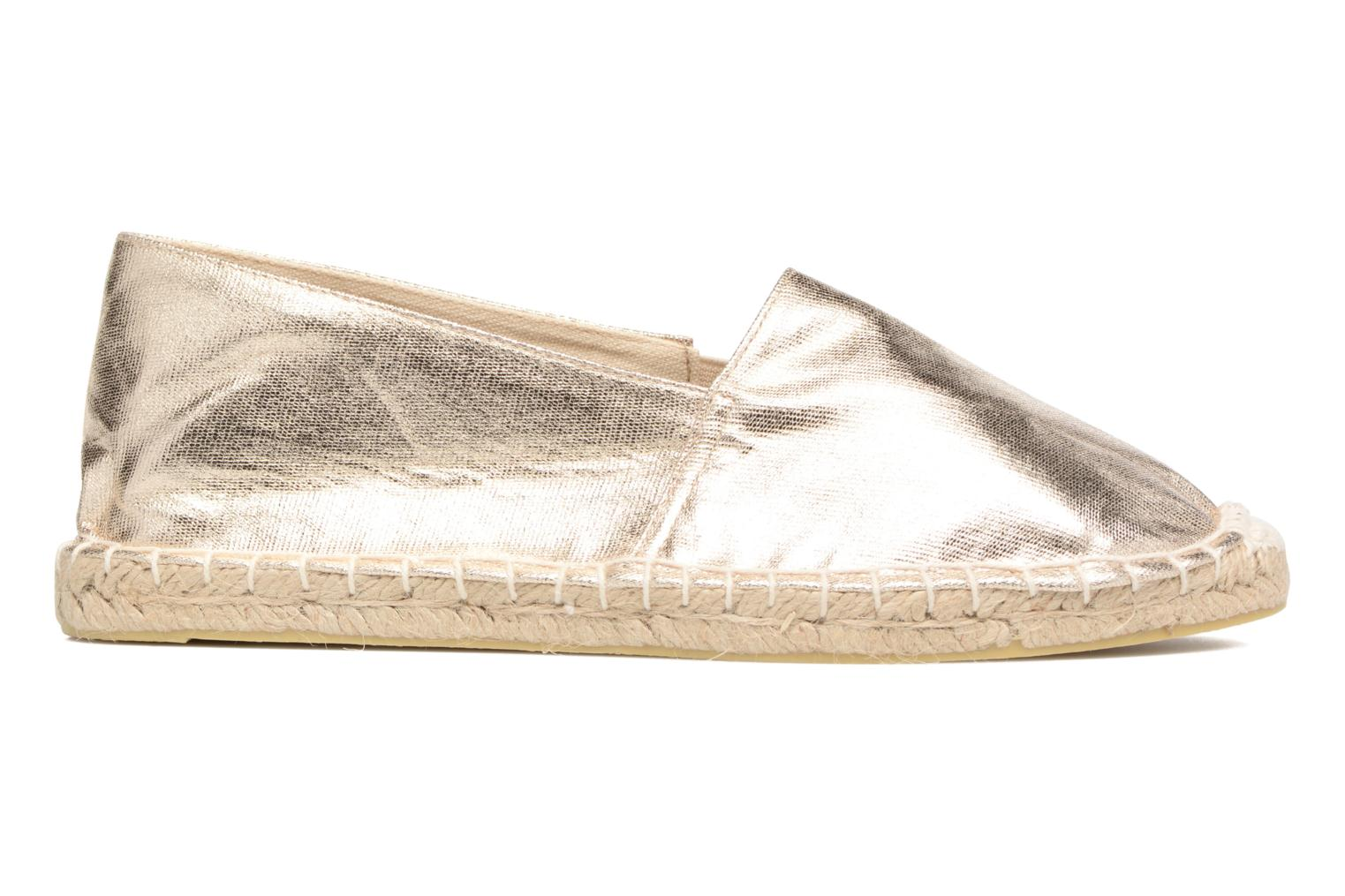 Espadrilles Pieces Haisha espadrillos Bronze and Gold back view