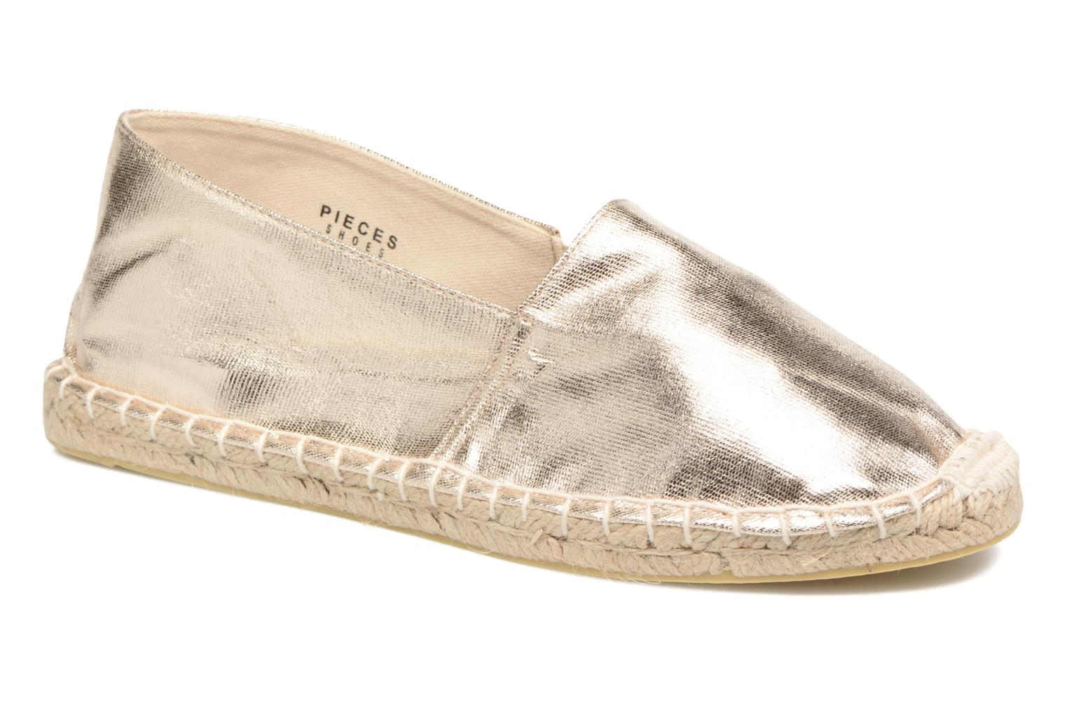 Espadrilles Pieces Haisha espadrillos Bronze and Gold detailed view/ Pair view