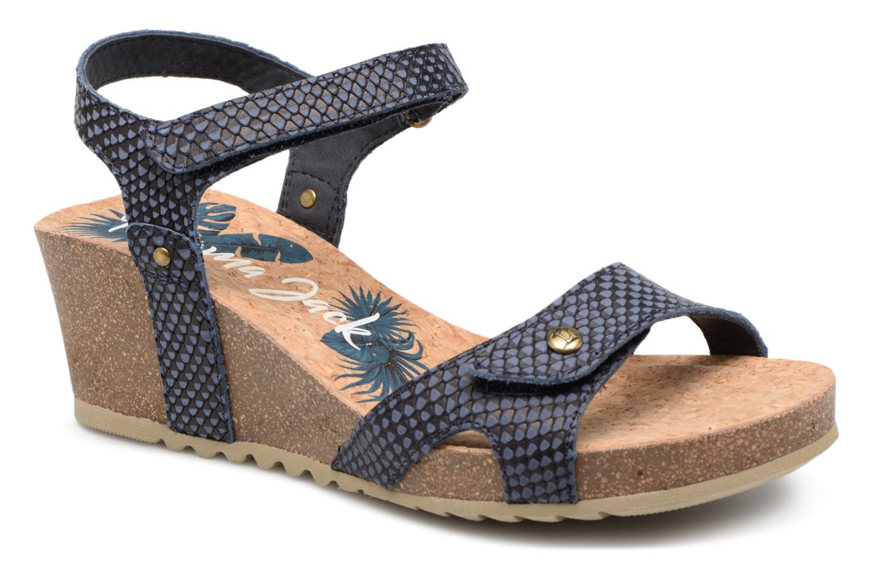 Sandaler Panama Jack Julia Blå detaljerad bild på paret