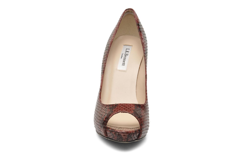 Escarpins L.K. Bennett Nina b Bordeaux vue portées chaussures