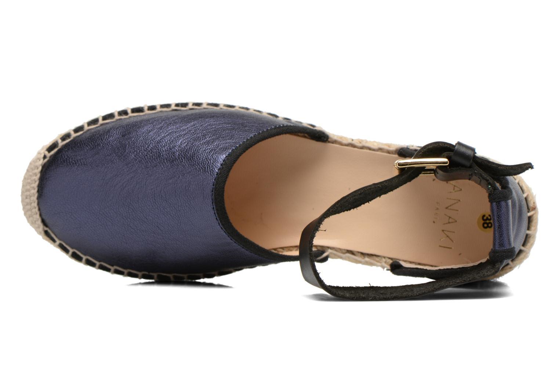 Sandalen Anaki Chica blau ansicht von links