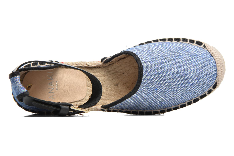 Sandalen Anaki Chica Blauw links