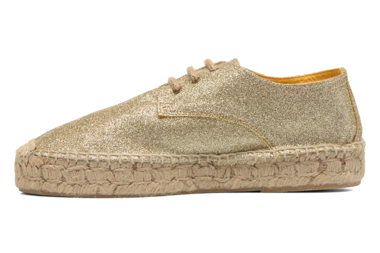 Snörade skor Anaki Sable Bronze och Guld bild från framsidan