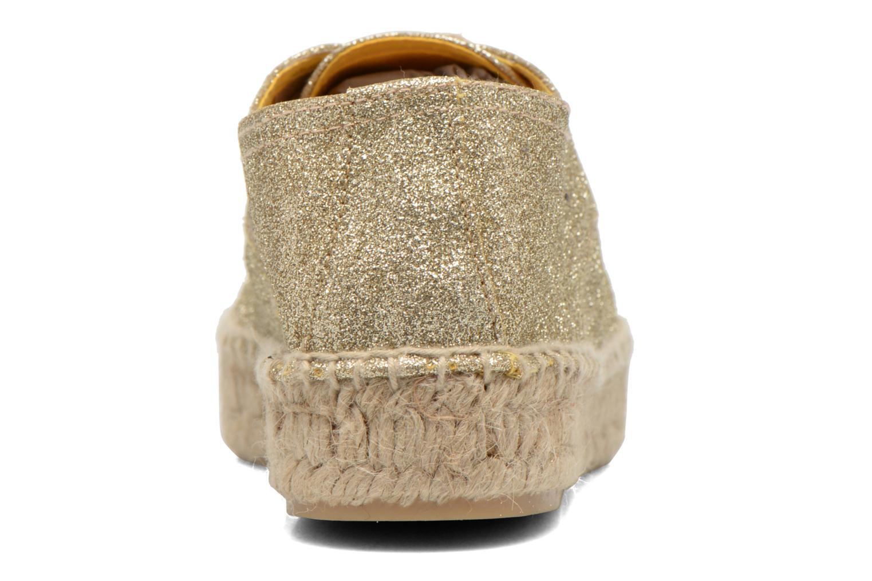 Snörade skor Anaki Sable Bronze och Guld Bild från höger sidan
