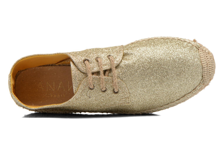 Snörade skor Anaki Sable Bronze och Guld bild från vänster sidan
