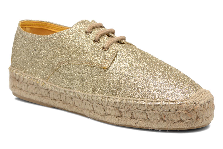 Snøresko Anaki Sable Guld og bronze detaljeret billede af skoene