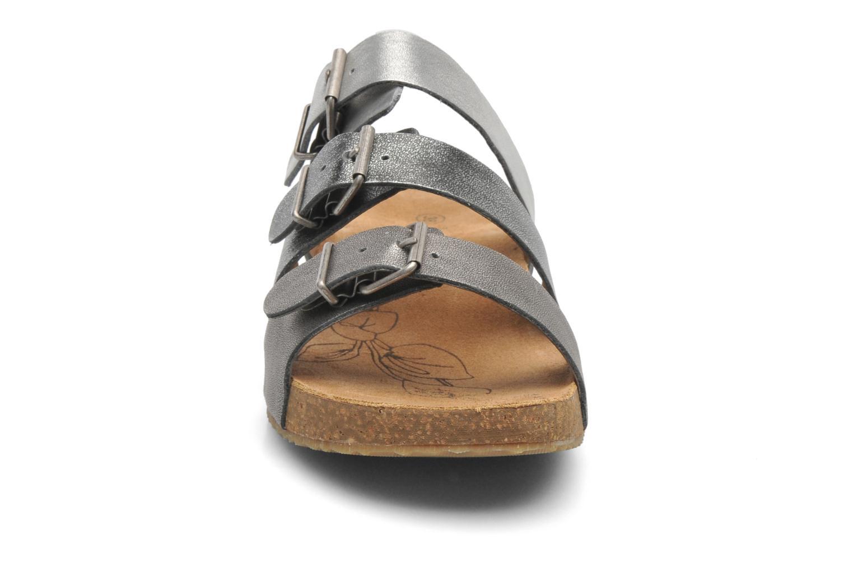 Mules et sabots Josef Seibel Tonga 21 Argent vue portées chaussures