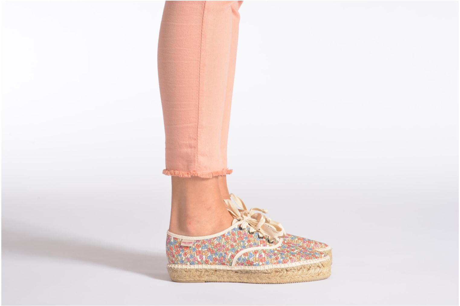 Lace-up shoes Pare Gabia Ictum Toile Multicolor view from underneath / model view