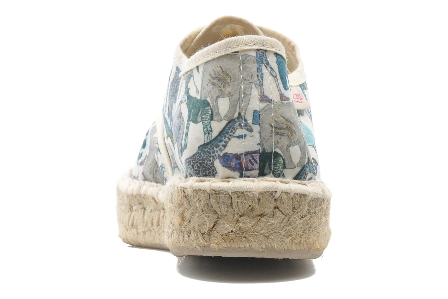 Lace-up shoes Pare Gabia Ictum Toile Multicolor view from the right