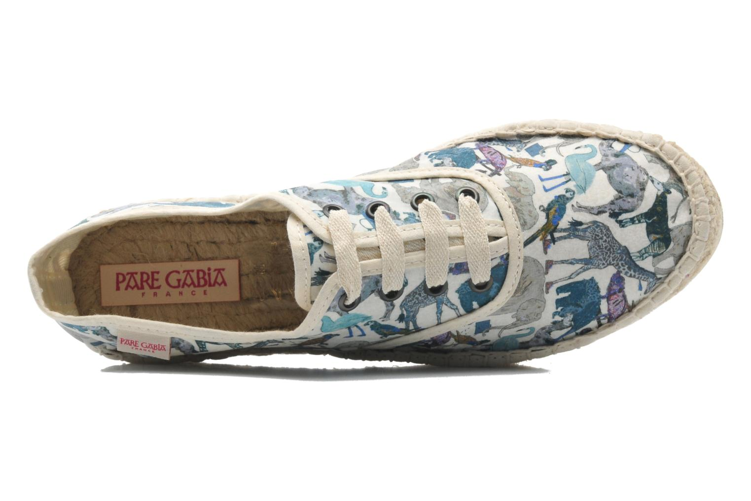 Lace-up shoes Pare Gabia Ictum Toile Multicolor view from the left