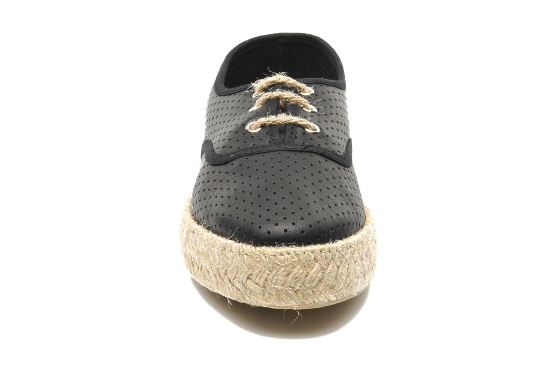 Chaussures à lacets Pare Gabia Lotus cuir Noir vue portées chaussures