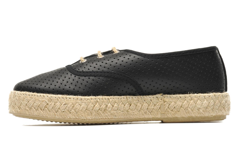Chaussures à lacets Pare Gabia Lotus cuir Noir vue face