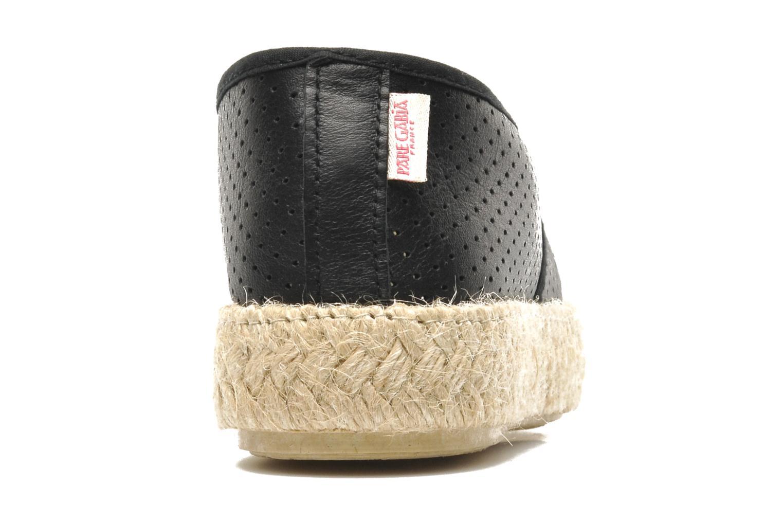 Chaussures à lacets Pare Gabia Lotus cuir Noir vue droite