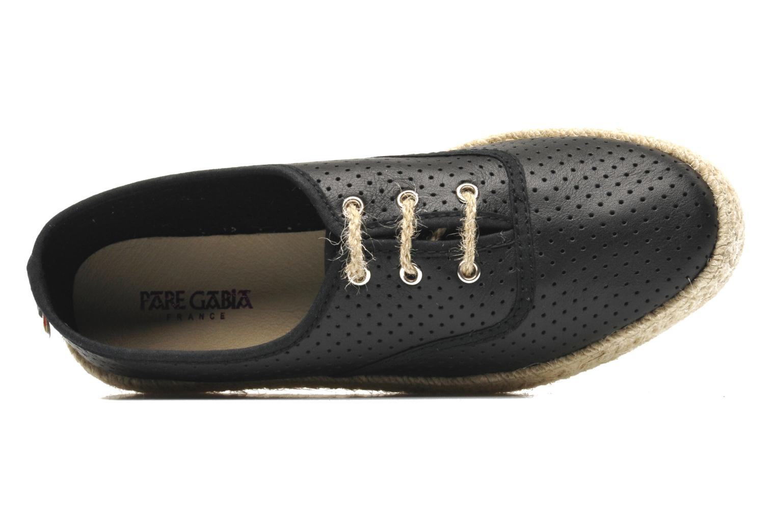 Lace-up shoes Pare Gabia Lotus cuir Black view from the left