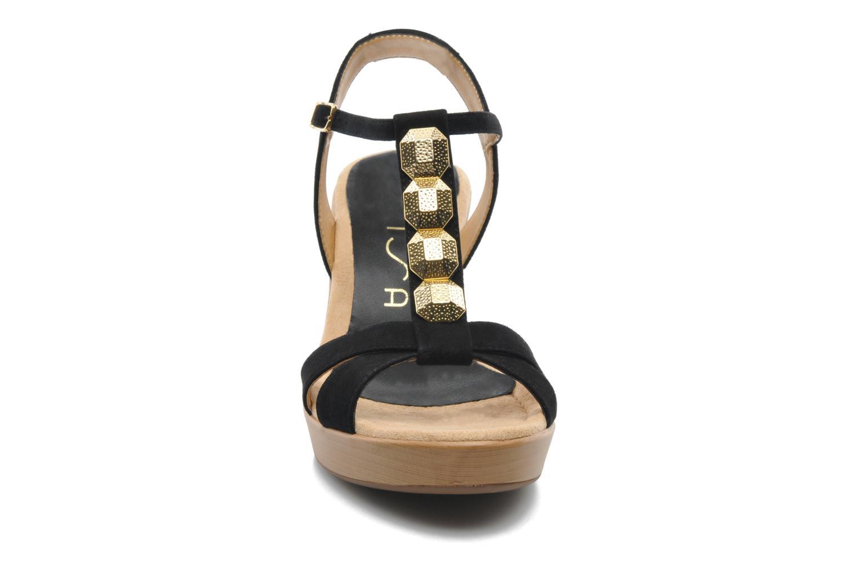 Sandales et nu-pieds Unisa Rony Noir vue portées chaussures