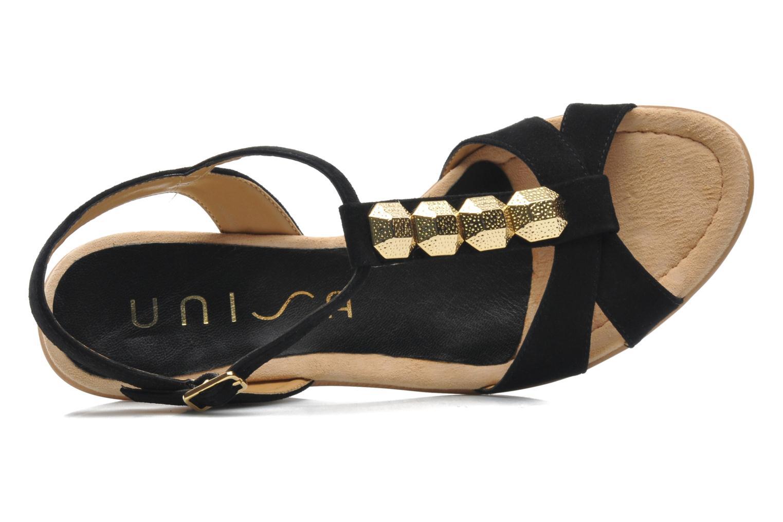 Sandales et nu-pieds Unisa Rony Noir vue gauche