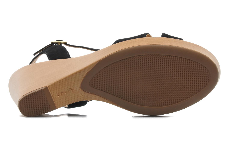Sandales et nu-pieds Unisa Rony Noir vue haut