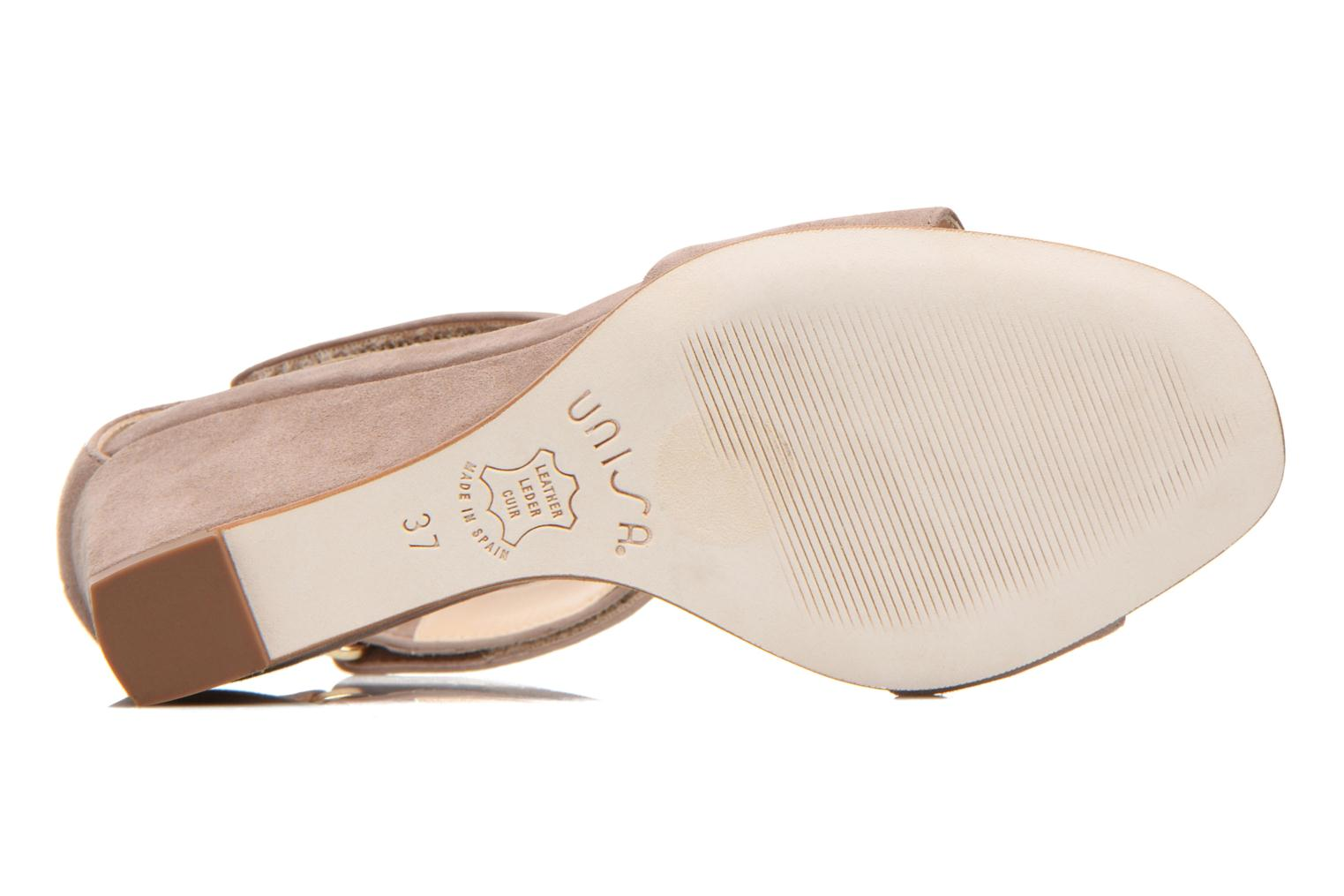 Sandals Unisa Dulcea Beige view from above