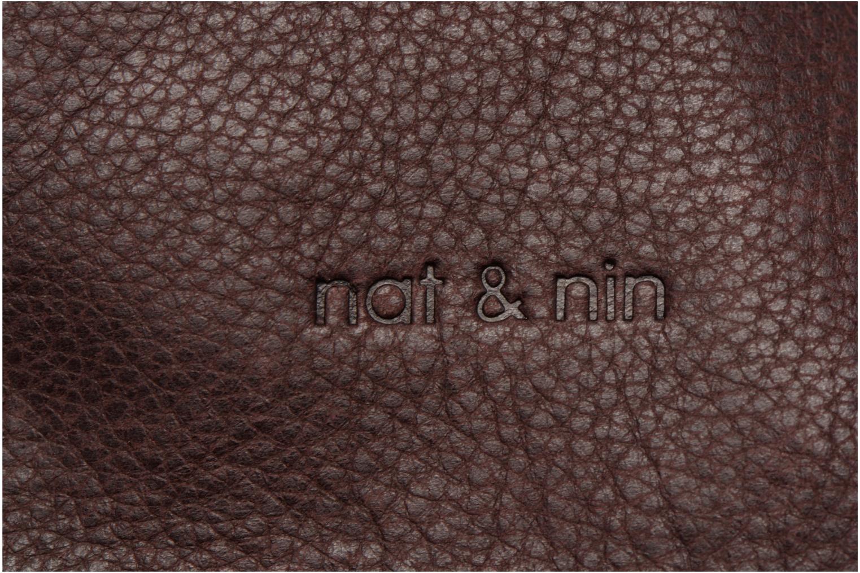 Handtaschen Nat & Nin Anouk weinrot ansicht von links