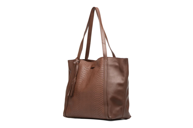 Bolsos de mano Loxwood Shopper Marilou Marrón vista del modelo