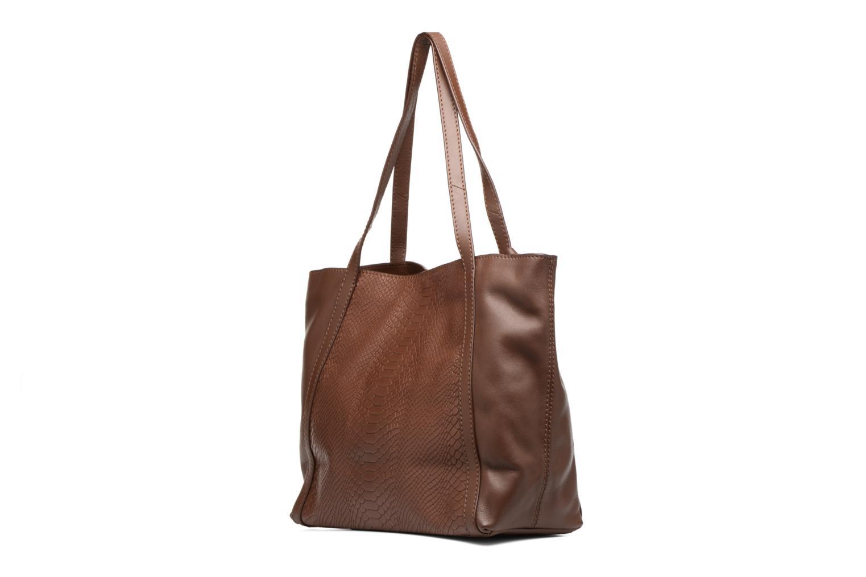 Handtaschen Loxwood Shopper Marilou braun ansicht von rechts