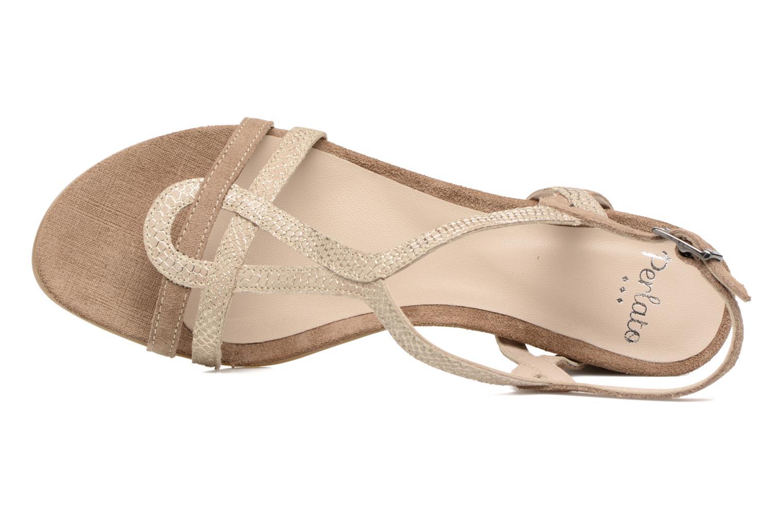 Sandalen Perlato Pandora beige ansicht von links