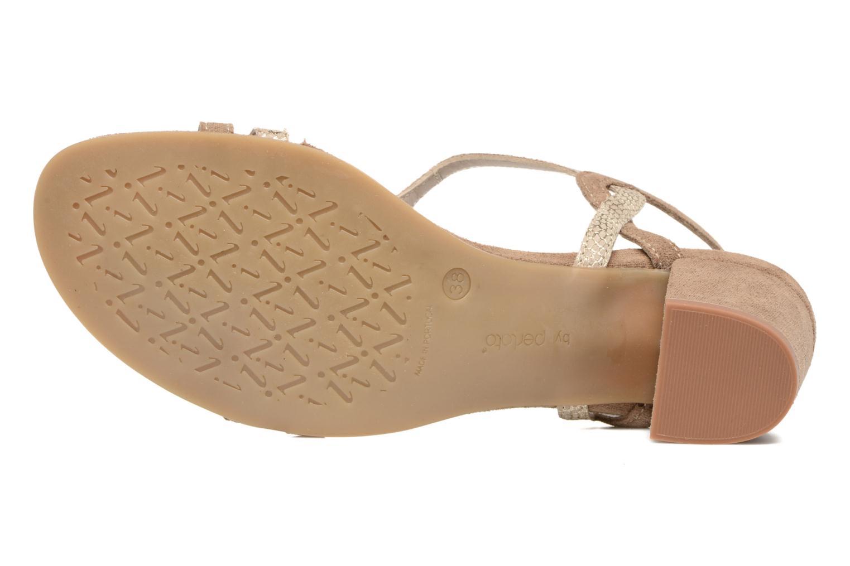 Sandalen Perlato Pandora beige ansicht von oben