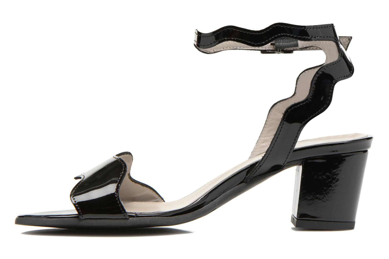 Sandalen Perlato Paz schwarz ansicht von vorne