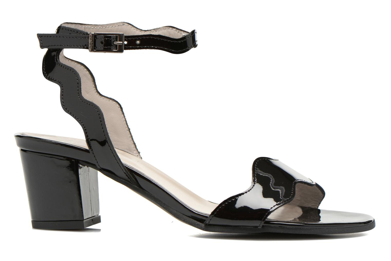 Sandales et nu-pieds Perlato Paz Noir vue derrière