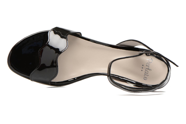Sandales et nu-pieds Perlato Paz Noir vue gauche