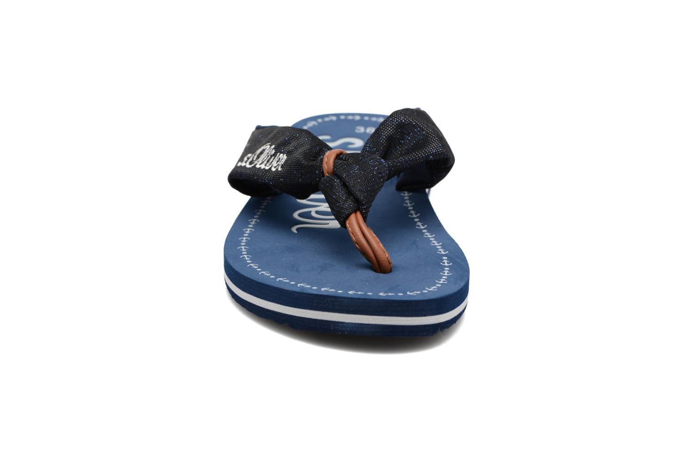 Tongs S.Oliver Krink Bleu vue portées chaussures
