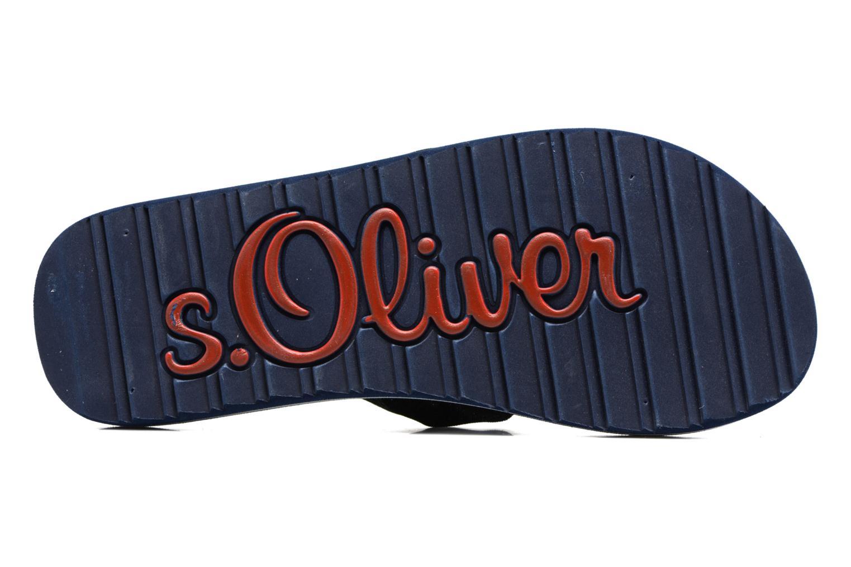 Tongs S.Oliver Krink Bleu vue haut