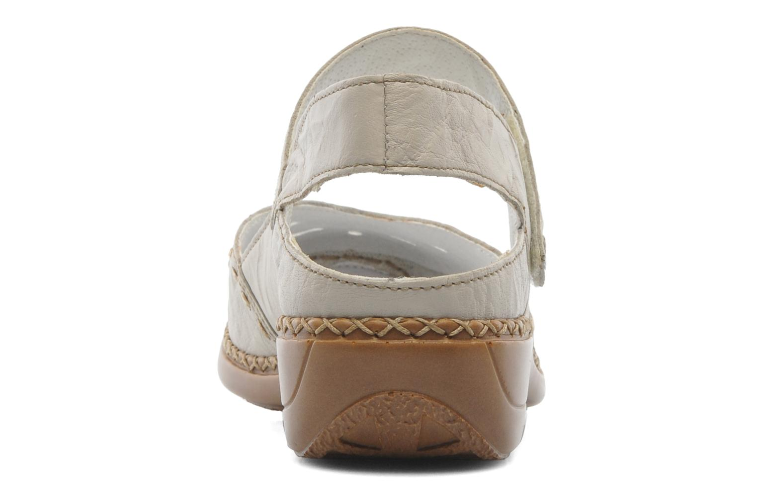 Ballet pumps Rieker Creamy 41391 Beige view from the right