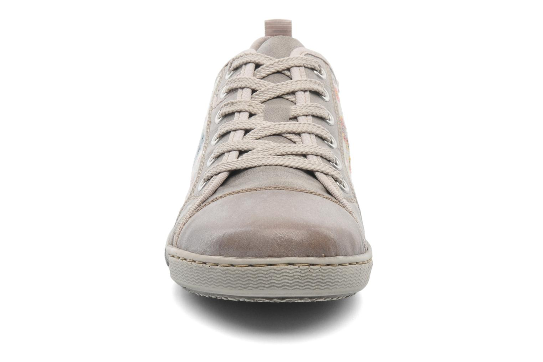 Sneaker Rieker Bin 42425 grau schuhe getragen