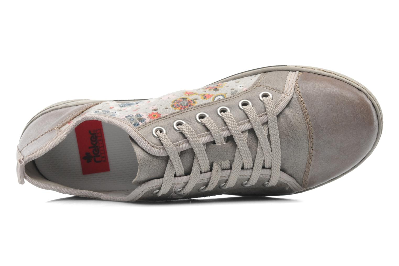 Trainers Rieker Bin 42425 Grey view from the left