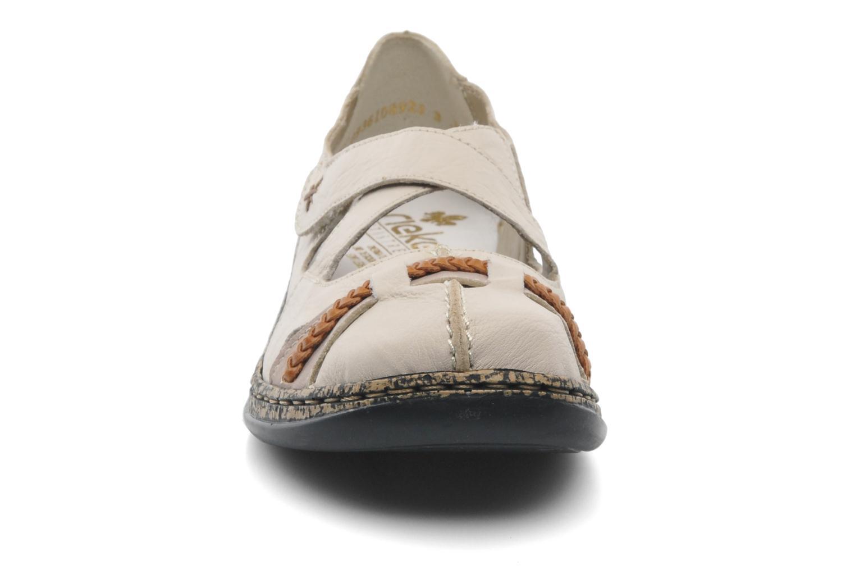Ballerines Rieker Pitch 46352 Beige vue portées chaussures