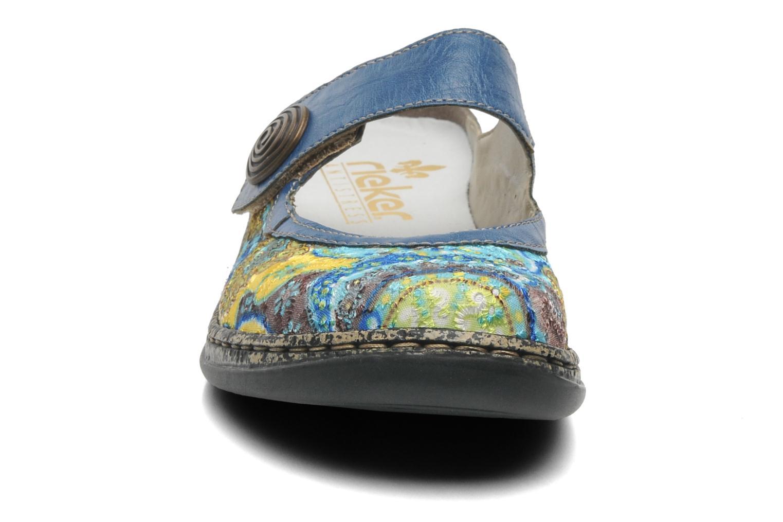 Mules et sabots Rieker Bilia 46385 Bleu vue portées chaussures