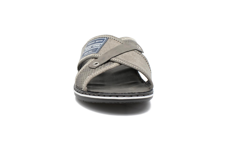 Sandalen Rieker Nolan 21064 grau schuhe getragen