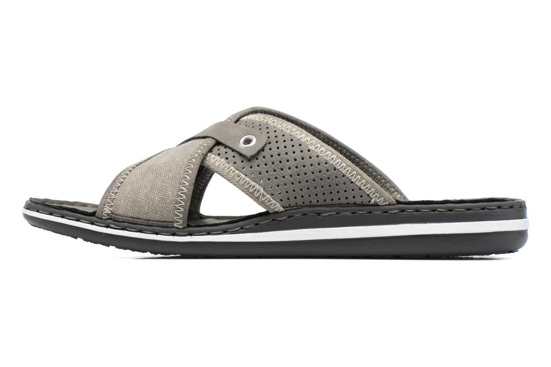 Sandales et nu-pieds Rieker Nolan 21064 Gris vue face