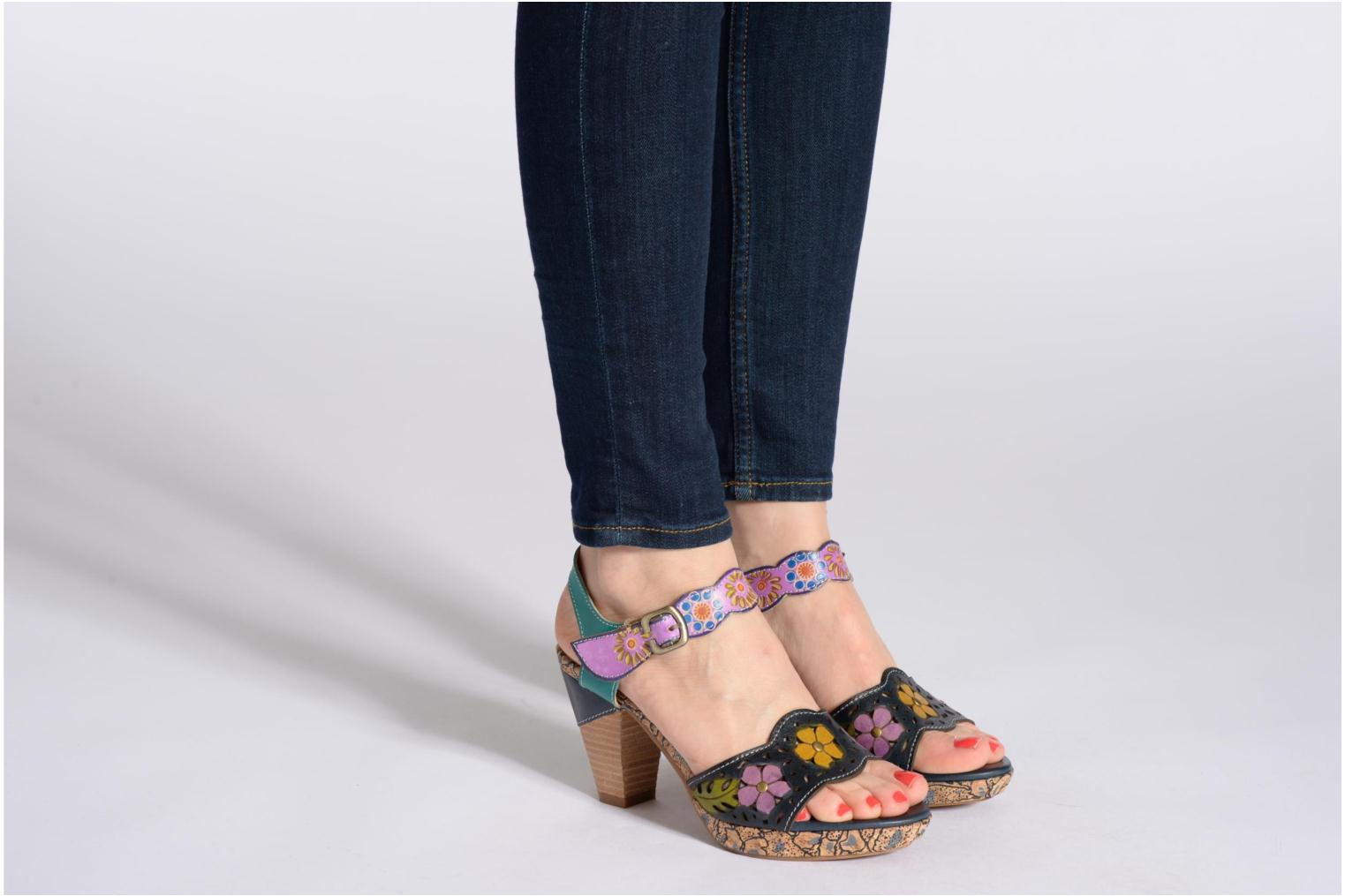 Sandals Laura Vita Salama Multicolor view from underneath / model view