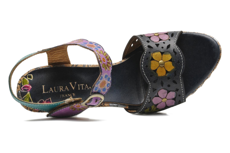 Sandalias Laura Vita Salama Multicolor vista lateral izquierda
