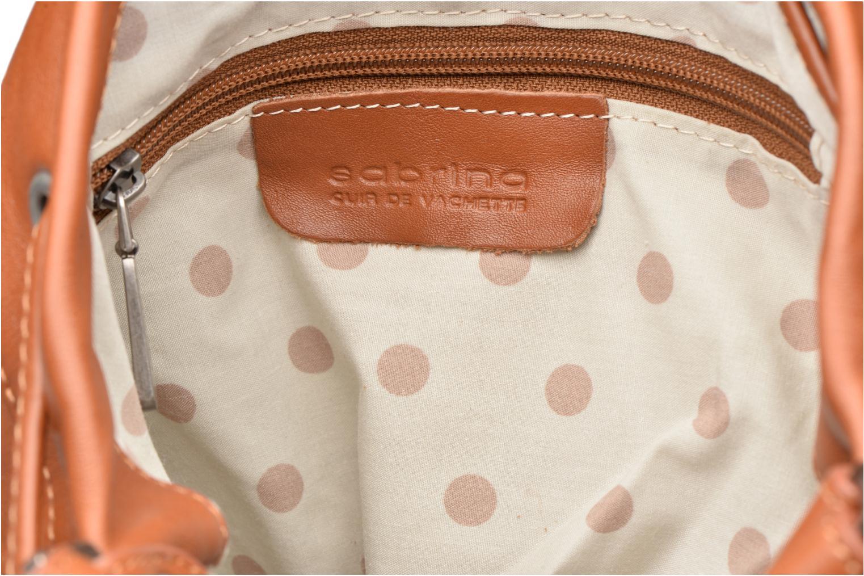 Handtassen Sabrina Anaé Bruin achterkant