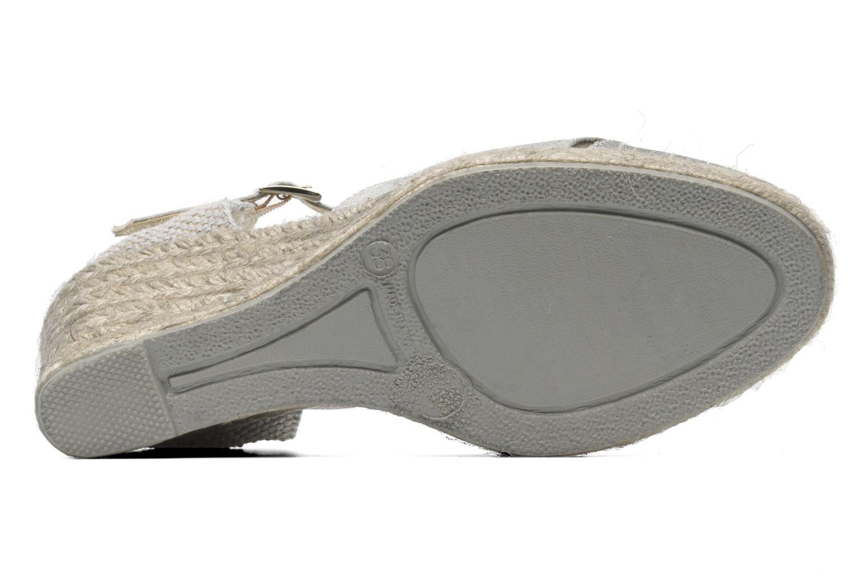 Sandalen Elizabeth Stuart Trento 604 silber ansicht von oben