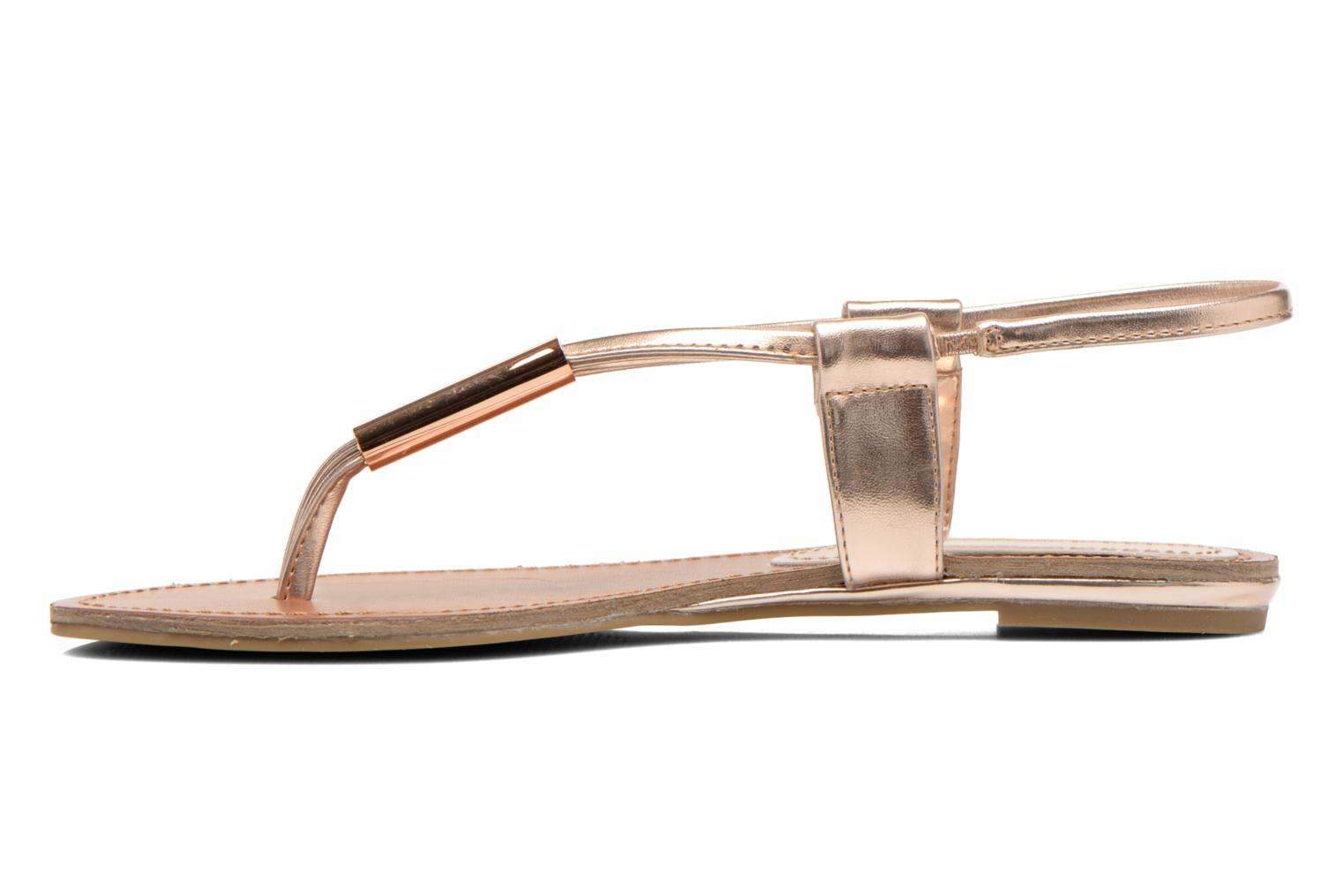 Sandals Steve Madden Hamil Bronze and Gold front view