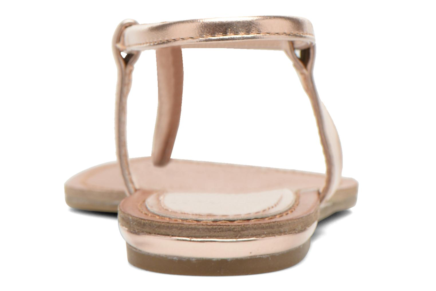 Sandals Steve Madden Hamil Bronze and Gold view from the right