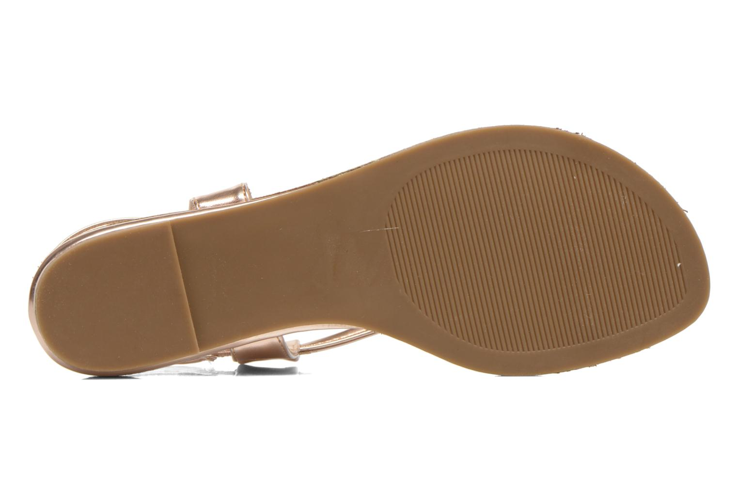 Sandals Steve Madden Hamil Bronze and Gold view from above