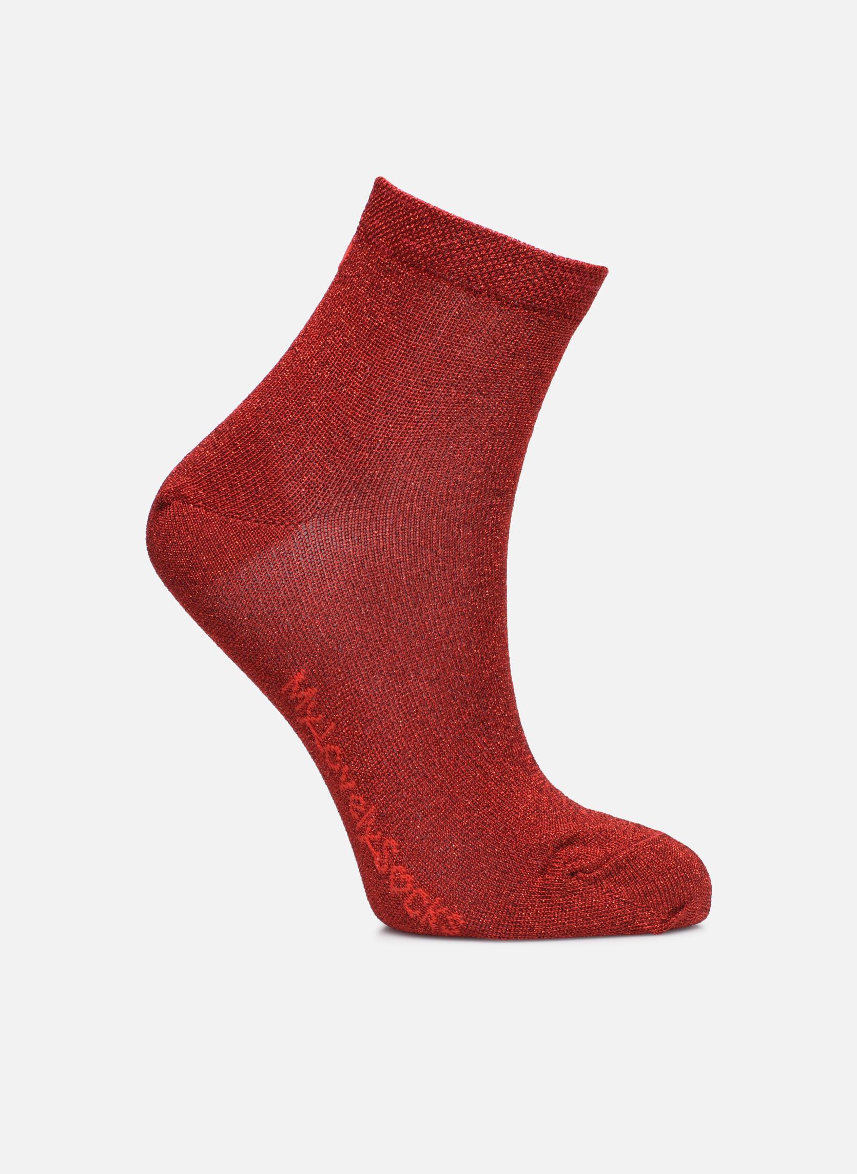 Chaussettes et collants My Lovely Socks Jo Rouge vue détail/paire