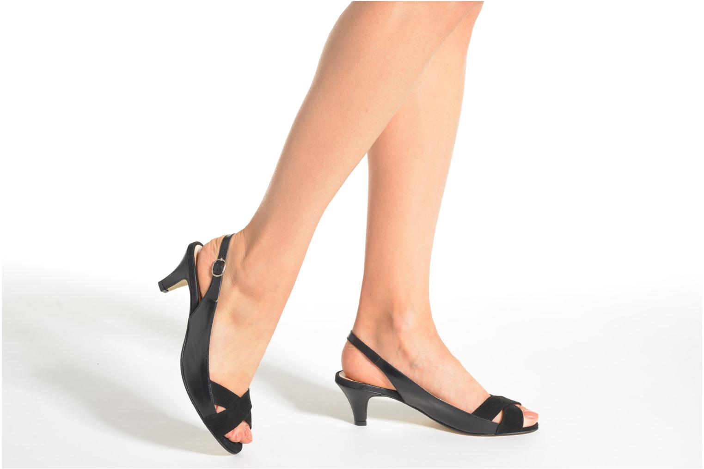 Sandales et nu-pieds Jonak BAZOR Noir vue bas / vue portée sac